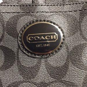 Coach Bags - Coach (F18917) Peyton Signature C black/gray tote